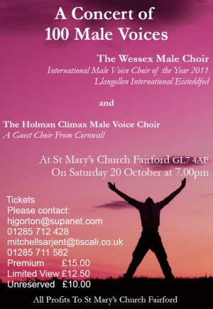 Concert by the Wessex and Cornish Male Voice Choirs